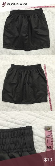 American apparel grey mini Super cute in good condition...  small defect in the treads in the waist; see pic 3 American Apparel Skirts Mini
