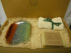 Pottery Soap Dish  Gift Set  Choice of Color  by FattyFrogPots, $20.00