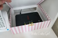 Thrifty Crafty Girl: Hiding the Internet Router