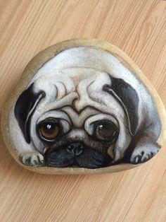 娜的石头画太酷