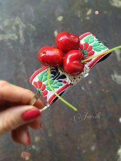 jarcik / Čelenka Cherry Folk, Cherry, Fruit, Vegetables, Wedding, Valentines Day Weddings, Popular, Forks, Veggie Food