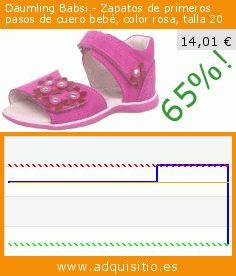 Däumling Babsi - Zapatos de primeros pasos de cuero bebé, color rosa, talla 20 (Zapatos). Baja 65%! Precio actual 14,01 €, el precio anterior fue de 40,27 €. https://www.adquisitio.es/d%C3%A4umling/babsi-zapatos-primeros-5