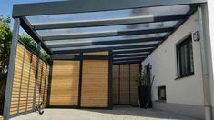 Carport Garage, Garage Doors, Carport Modern, Carport Designs, British Home, Outdoor Shade, Covered Decks, Backyard Patio, Car Parking