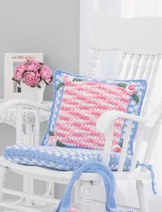 Yarnspirations.com - Lily Pillow - Patterns  | Yarnspirations