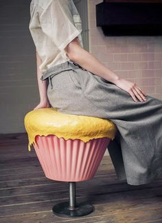 Sweeties Comfort Furniture Series by Boggy Chan:  Cupcake Stools and Sandwich Cookie Tables via The Terrier and Lobster