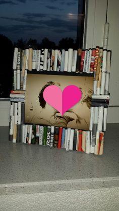 Fotolijstje van opgerolde stukjes papier