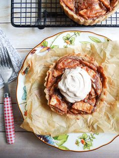 maple peanut butter apple tarts