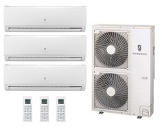 This Friedrich Dual Zone Mini-Split features Inverter Technology which allows for exceptional Heating and Cooling, while operating only at levels needed to maintain a comfortable and constant indoor environment. Ductless Heat Pump, Heat Pump System, Air Conditioning Installation, Heating And Cooling, Energy Efficiency, The Unit, Construction, Indoor, Mini