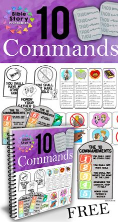 Free Ten Commandments Activity Pack from Bible Story Printables!  Bookmarks, Coloring Pages, Classroom Charts, Games and Activities.  Free: http://www.biblestoryprintables.com/News