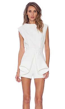 Cameo Nightswim Fitted Romper in Ivory