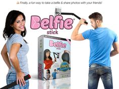 Who cares what you look like from the front? Share the glory of your derriere with the world with the BelfieStick, a camera extender designed to capture your behind.
