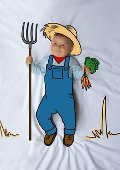Ponchito, Granjero, de mayor quiero ser, fotografía, infantil, bebé, creativa, ilustración, baby, photography, kid, illustration, photography, creative, dibujo