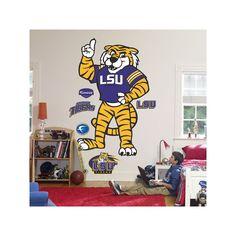 Fathead LSU Mike the Tiger Logo Wall Decal, Multicolor