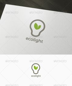 Eco Light Logo  #GraphicRiver         Light Eco is a logo that can be used in energy companies, green business, among other similar uses. Its design is very simple and is easy to configure. Ready to print.     Customizable 100%   CMYK    AI – EPS    Font used Sansation      Created: 7December11 GraphicsFilesIncluded: VectorEPS #AIIllustrator Layered: Yes MinimumAdobeCSVersion: CS