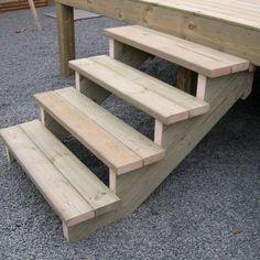Escalier à crémaillères en pin traité autoclave classe 4 - Escaliers - Terrasses suspendues 91 77 92 93 94 95 75 78 : Menuiserie Terrasses Création