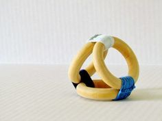 Items similar to Wood Teething Toy / Montessori Toy for Toddler / Pink Crochet Teething Rings / Waldorf toys for baby on Etsy Sewing Toys, Baby Sewing, Teething Chart, Baby Lernen, Diy Bebe, Baby Teethers, Waldorf Toys, Montessori Toys, Baby Crafts