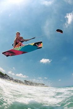 Want to learn how to kite #board so bad! #learnsurfing