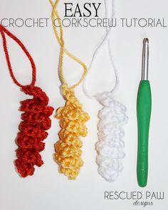 How to Make a Corkscrew {CROCHET TUTORIAL}