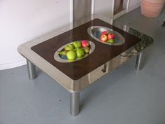 Recessed surface bowl table