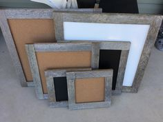 Barnwood dry erase, cork and chalk boards in any size.