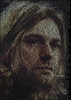 Text portrait:  Kurt Cobain. Image credit: Ralph Ueltzhoeffer