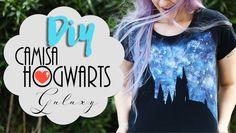 DIY: Camisa de Hogwarts Galaxy - Especial aniversário Harry Potter #pott...
