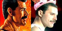 Haggar from final fight is totally modeled after Freddie Mercury!