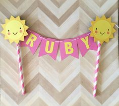 ...♥ Welcome to Phases of Love ♥... This ADORABLE Little Sunshine Cake Topper makes the perfect addition to any birthday party, baby shower or cake