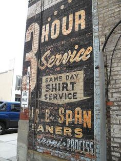 Interior design, decoration, loft, Old hand painted wall sign in Wheeling by… Old Brick Wall, Old Wall, Brick Walls, Hand Painted Walls, Hand Painted Signs, Painted Wood, Advertising Signs, Vintage Advertisements, Vintage Walls