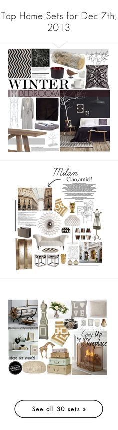 """""""Top Home Sets for Dec 7th, 2013"""" by polyvore ❤ liked on Polyvore featuring interior, interiors, interior design, home, home decor, interior decorating, Crate and Barrel, Anjali Hood, Covo and Bocasa"""
