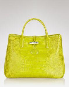 Longchamp Handheld - Rousseau Croc | Bloomingdale's