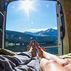 That's the life! So much Sprinter Van love.  Photo: @chris_taking_pictures_of_stuff #sprintercampervans  Regram via @sprintercampervans