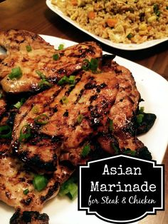 Asian Marinade for Chicken & Steak   Aunt Bee's Recipes - This marinade turned out great. I used this chicken in a stir fry recipe and it totally met my expectations.