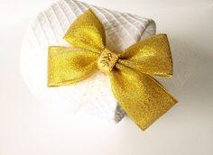 Spinka złota kokardka z tiulem na święta sesja - MadebyKaza - Spinki do włosów