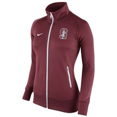 Women's Nike Cardinal Stanford Cardinal Stadium Classic Full Zip Track... ($75) ❤ liked on Polyvore featuring activewear, activewear jackets, crimson, track top, tracksuit jacket, warm up jackets, nike and nike activewear