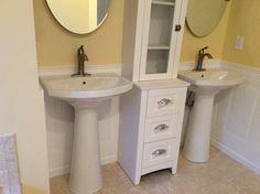 KOHLER, Cimarron Single Hole Pedestal Combo Bathroom Sink in White, K-2362-1-0 at The Home Depot - Mobile