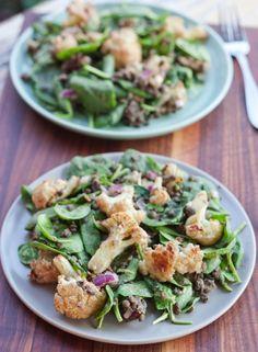 Roasted Cauliflower and Lentil Salad (vegan & gluten-free)