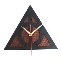 The Deathly Hallows Shaped Wall Clock (2 Types) //Price: $56.99 & FREE Shipping // #peterpettigrew #nevillelongbottom #prongs #jewelry #snitch