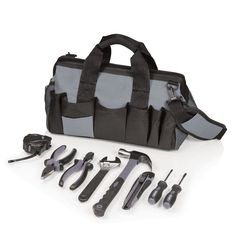 Soft Tote-8-Pc. Tool Kit http://organizechic.com/collections/gifts-for-him/products/soft-tote-8-pc-tool-kit