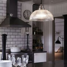 Black and white in kitchen