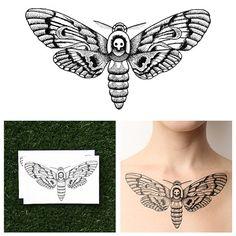 Moth - Temporary Tattoo (Set of 2)