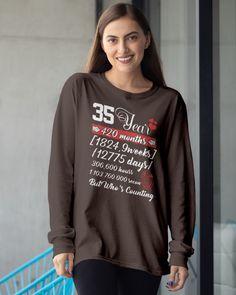 35 Year Anniversary 35th WeddingT-Shirt - Dark Chocolate wedding nailes, wedding bouquete, formal wedding #weddinggown #weddinginspo #weddingstyle, back to school, aesthetic wallpaper, y2k fashion