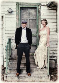 1920s groom outfits   bride+groom+vintage+retro+1920s+1920+20+20s+roaring+art+deco+rustic ...