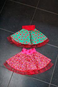 Voor Lisanne maakte ik twee cirkelrokjes.                 Een cirkelrokje kun vrij eenvoudig zonder patroon voor elk kind op maat maken.   ...