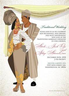Ko-ri-ko-sun mi Yoruba Nigerian Traditional Wedding Invitation - Welcome to our website, We hope you are satisfied with the content we offer. Drink Bar, Nigerian Traditional Wedding, Traditional Weddings, Traditional Decor, Engagement Invitation Cards, Ethiopian Wedding, Traditional Wedding Invitations, Event Planning Tips, Digital Invitations