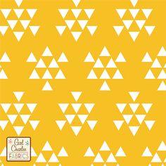 Exuberance Orange Chevron Cotton Jersey Blend Knit Fabric