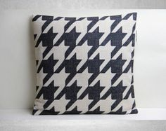 Houndstooth Pillow Cover, Pillow Cover, Decorative Pillow Cover,Pillow Case,Cushion Cover,Linen Pillow Cover,Throw Pillow,18x18 Pillow Cover