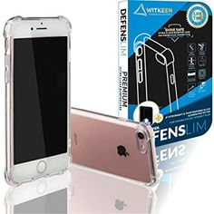 WITKEEN 2018 Defenslim Ultra Clear Case iPhone 8 / iPhone 7 Shockproof Bumper Cases with Corner Defender Technology for Apple iPhone 8 / iPhone 7 Transparent Cover Iphone 8 Plus, Iphone 7, Apple Iphone, Iphone Cases, Amazon Codes, Coding, Technology, Tech, Iphone Seven