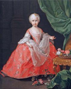 La Infanta María Josefa de Borbón y Sajonia, hija del rey Carlos III