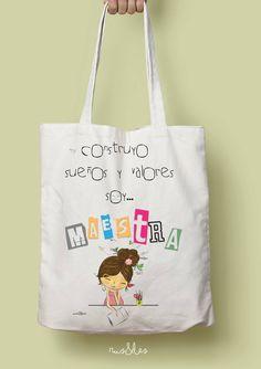Rus&Les Teachers Day Gifts, Teacher Gifts, Teacher Bags, Go Math, Best Tote Bags, Bunny Crafts, Teachers' Day, Teacher Style, Rock Crafts